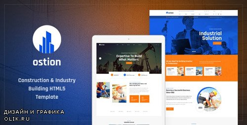 ThemeForest - Ostion v1.0 - Construction & Industry Building Company HTML5 Template - 23986436