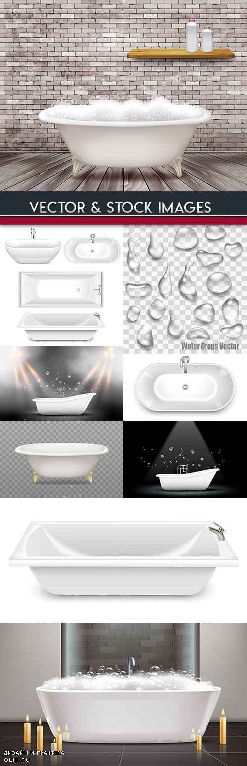 3d bathroom and drops of water illustration