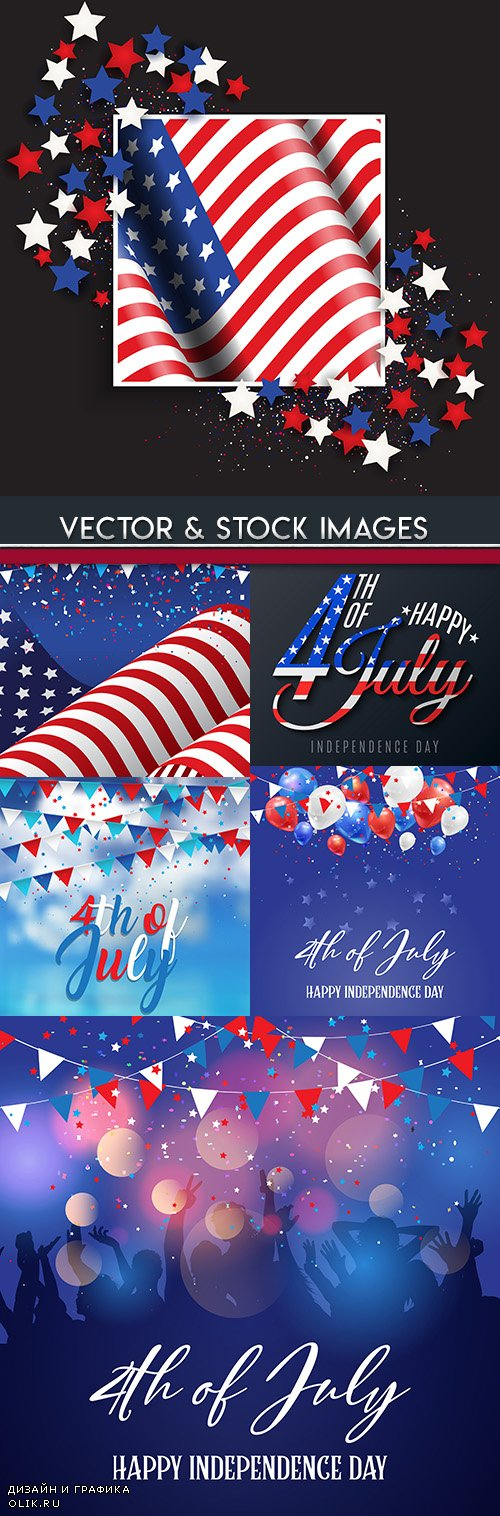 Independence Day USA illustration vector design 5
