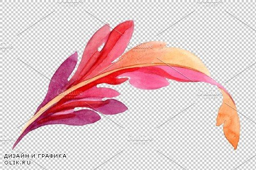 Ornament with pansies Watercolor png - 3869886