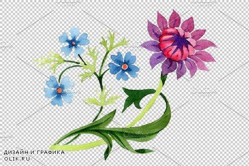 Floral classic watercolor ornament - 3870117