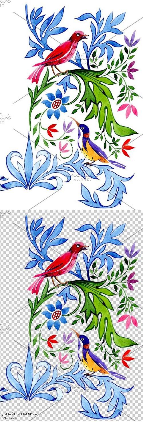 "Floral pattern ""Tenderness"" - 3869804"