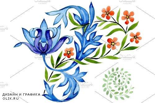 Ukrainian floral ornament, national - 3869681