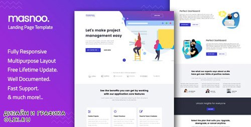 ThemeForest - Masnoo v1.0 - Multipurpose Landing Page Template - 22884133