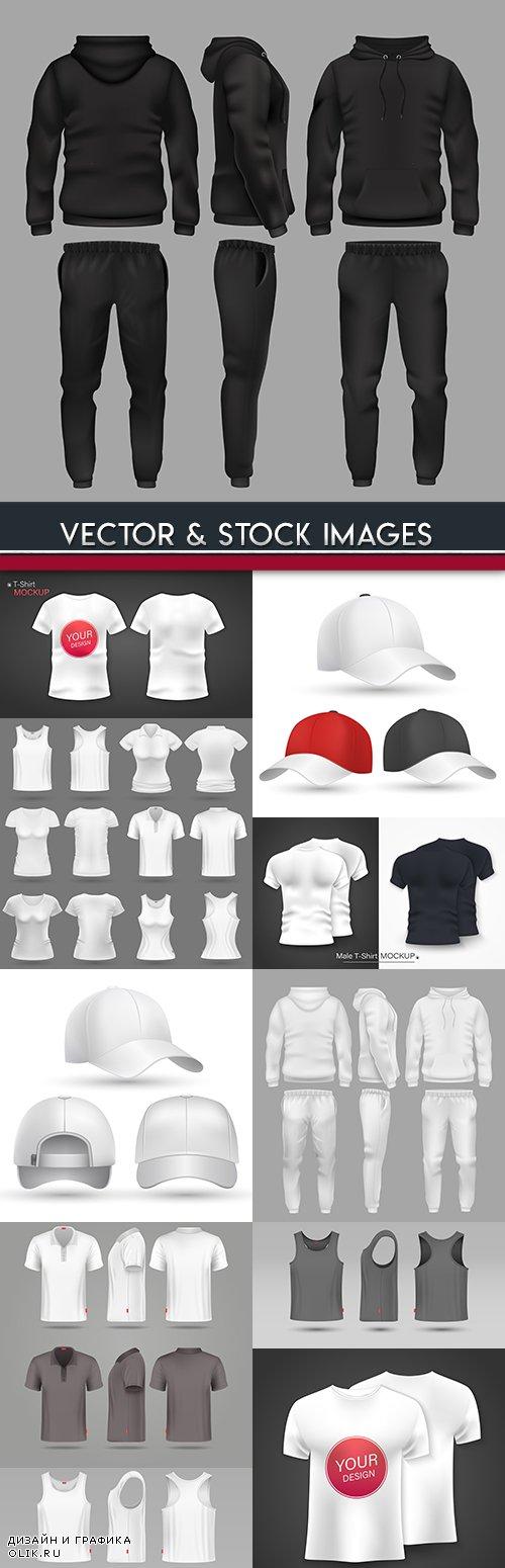Sportswear cap and t-shirt design model
