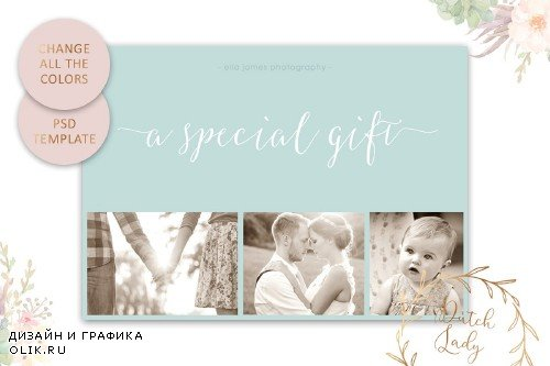 PSD Photo Gift Card Template #8 - 3871727