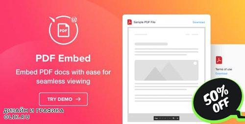 CodeCanyon - PDF Embed v1.0.0 - WordPress PDF Viewer plugin - 24004896