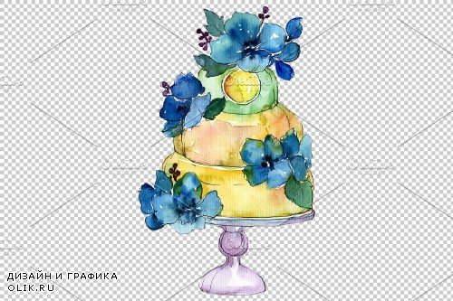 """Dessert """"Mother's love"""" watercolor - 3885742"""