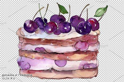 "Dessert ""Mamulin cake"" watercolor - 3885768"