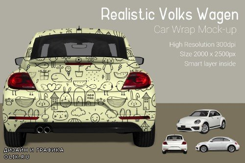 VW Car Wrap Mock-Up - 3883291