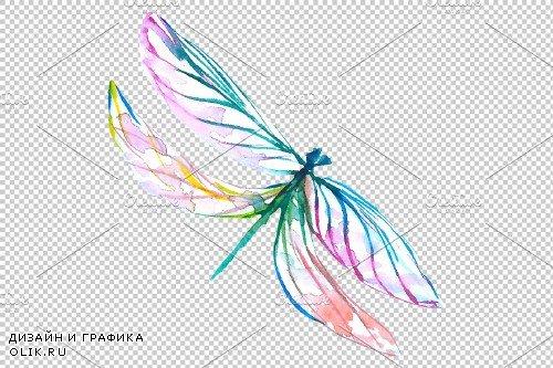 Original dragonfly blue watercolor - 3884806