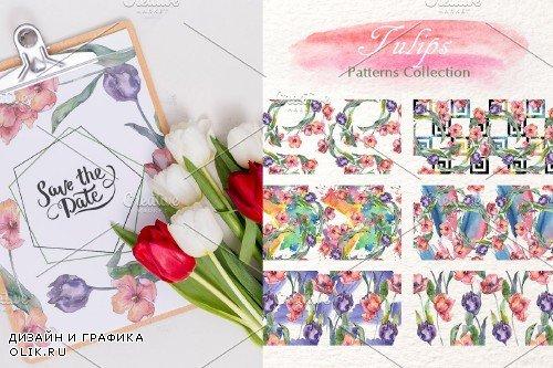 """Tulips """"Flavor of Love"""" watercolor - 3882922"""
