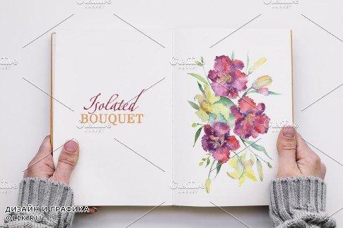 "Bouquet ""Pure Heart"" watercolor png - 3883136"