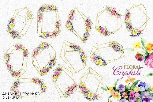 Gentle flower Bouquets Watercolor - 3882616