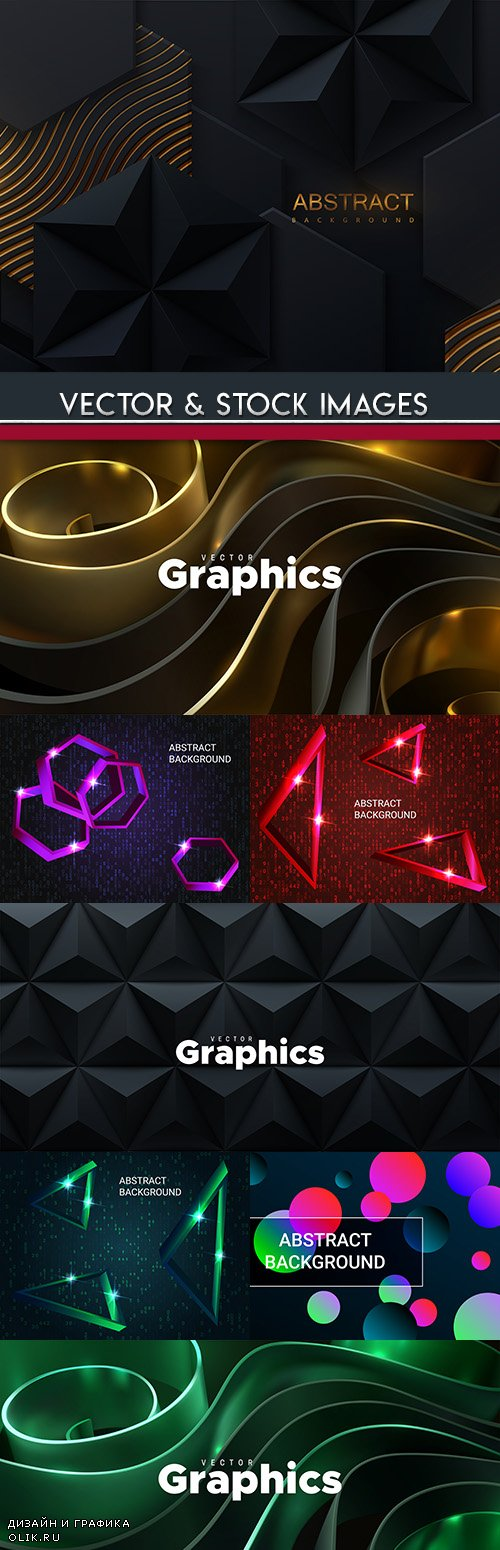 Modern decorative background geometrical elements design