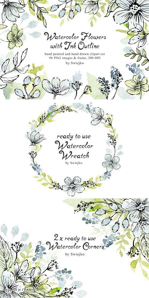 Watercolor Flowers - 799942