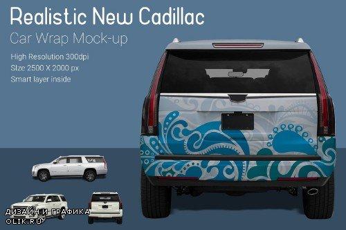 New Cadillac Car Wrap Mock-Up - 3891785