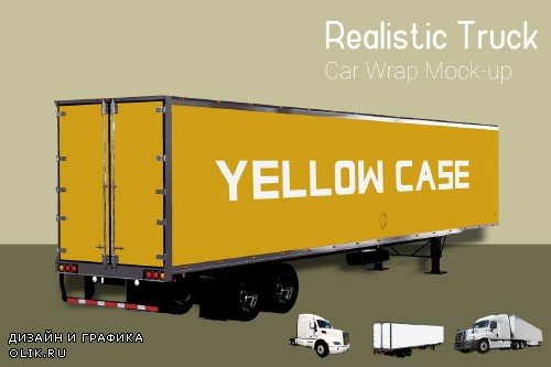 Truck With Container Mock-Up - 3892679