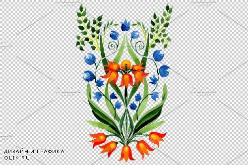 Floral ornament traditional - 3890774