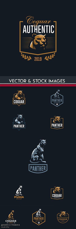 Panther and jaguar creative logos Business Company