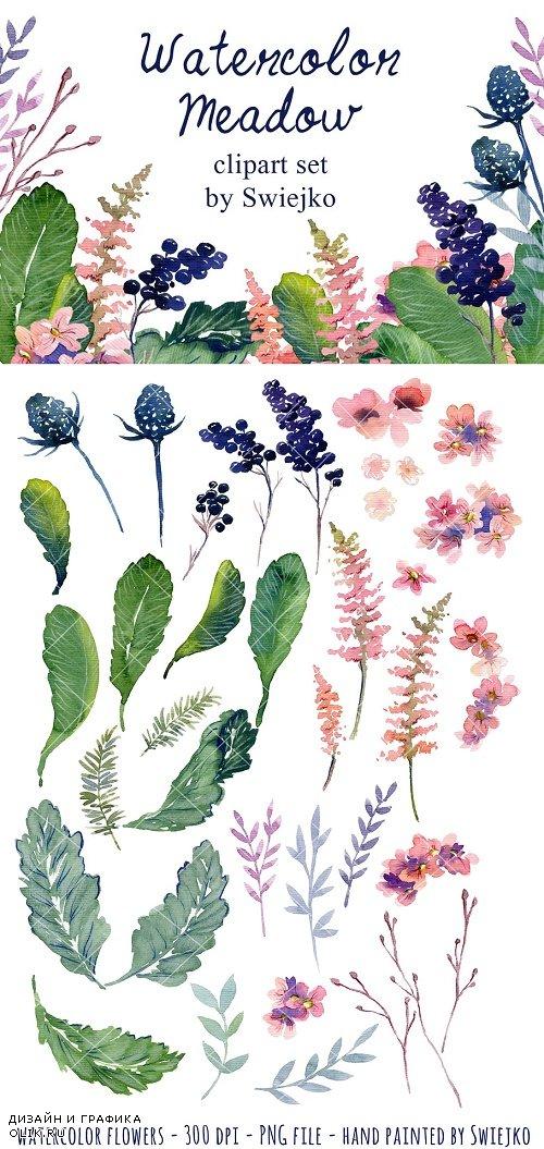 Watercolor floral set - 330710