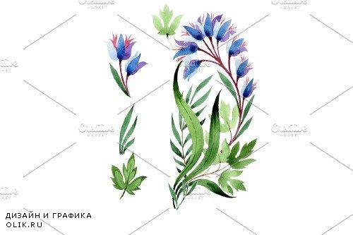 Ornament in classic watercolor style - 3893439