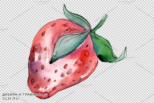 Strawberry red Watercolor png - 3897304