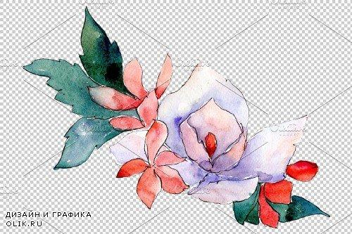 Bouquet Folk wisdom watercolor png - 3900091