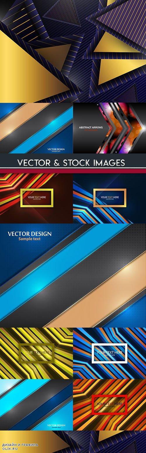 Decorative background geometrical elements design 4