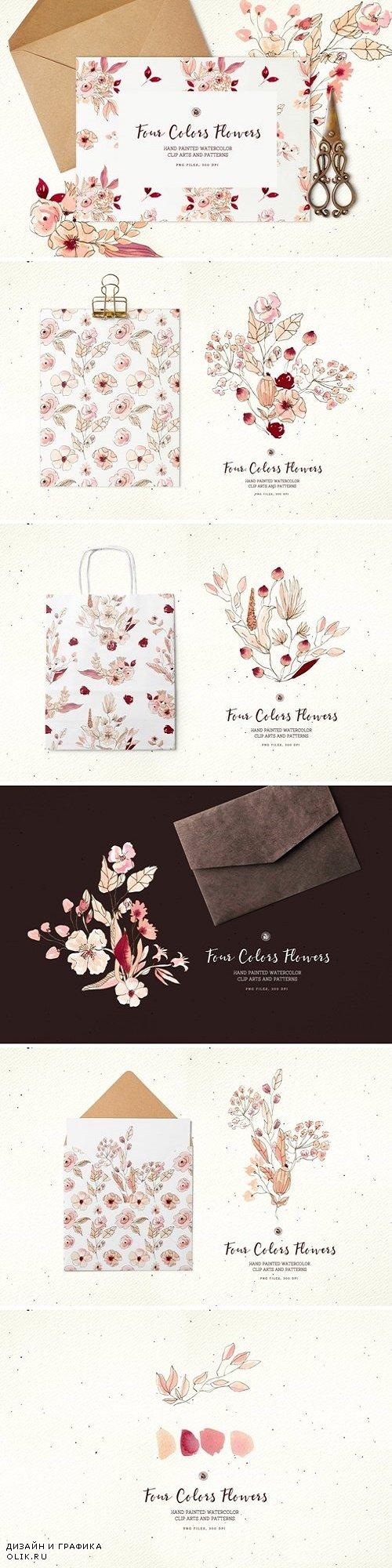 Four Colors Flowers 3907381