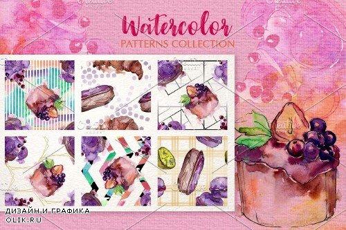Dessert Operetta watercolor png - 3904824