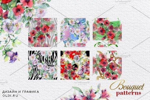 Bouquet of bright dreams watercolor - 3903603