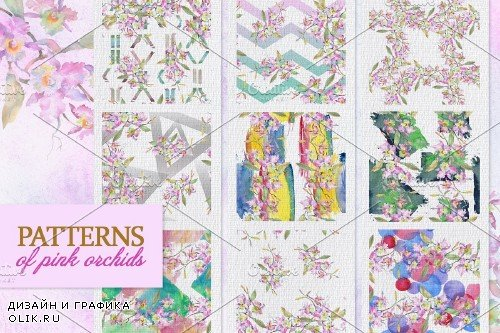Bouquet pink orchids Quivering love - 3887270