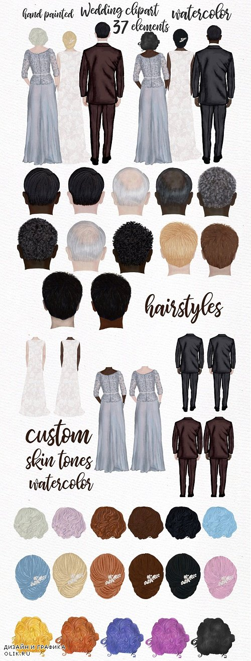 Wedding clipart Mother of the bride - 3908698