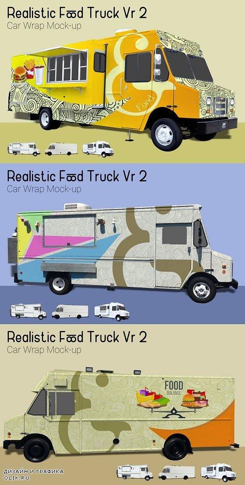 Food Truck Mock-Up Vr2 - 3912980
