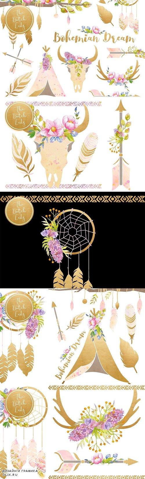 Bohemian Dream Clipart Set - 3911210