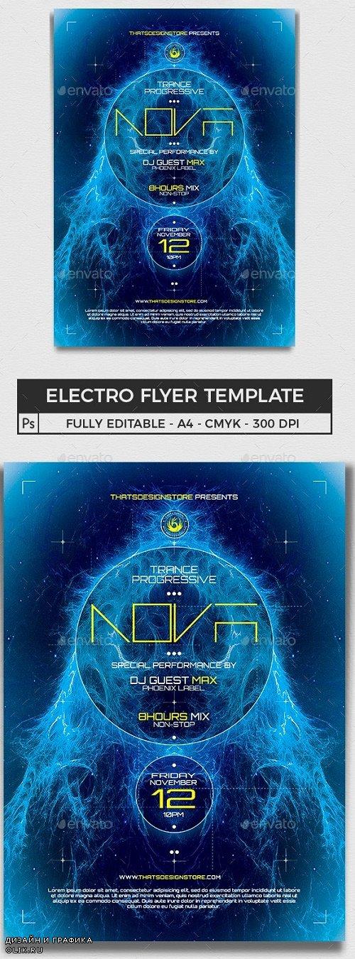 Electro Flyer Template V1 - 11312325