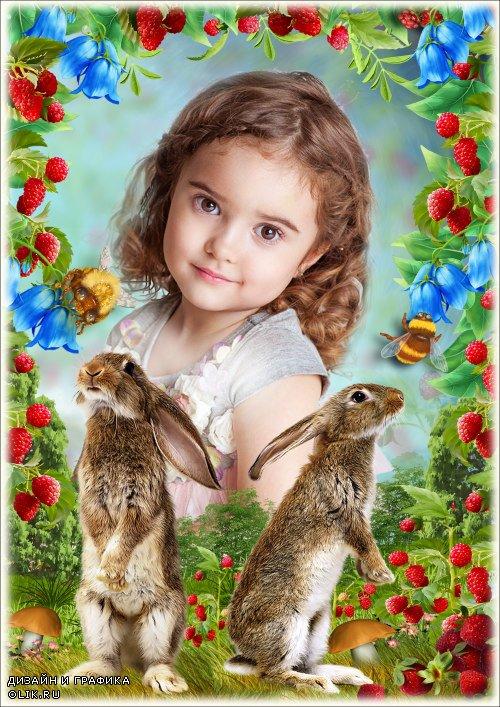 Рамка для Фотошопа - Зайчишки братишки