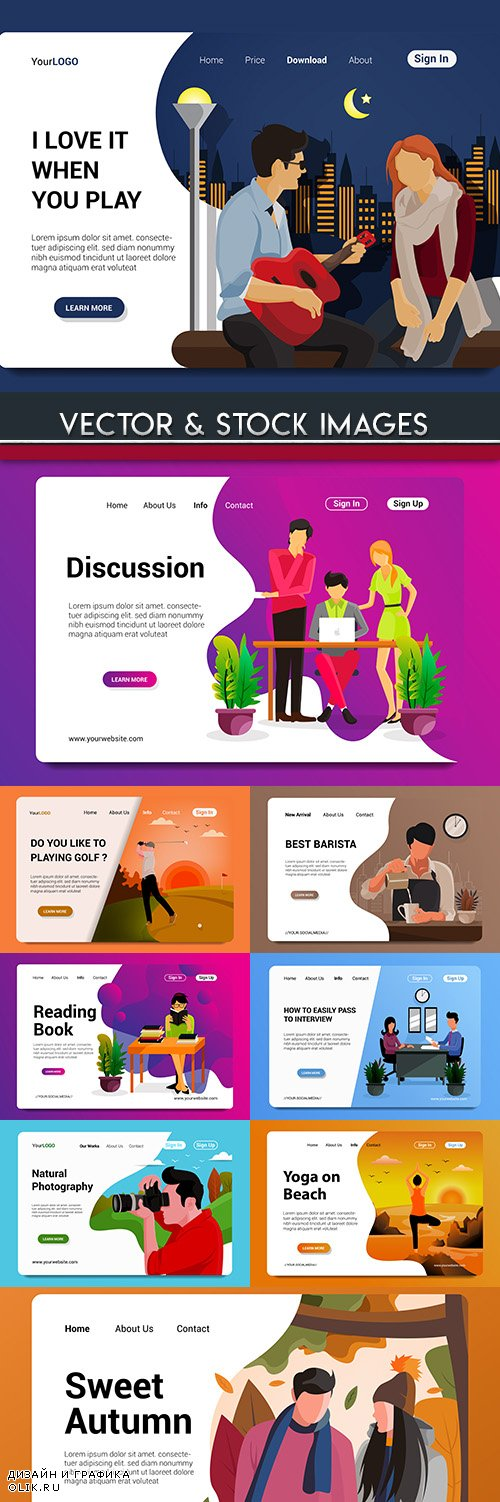 People way of life business work design flat concept