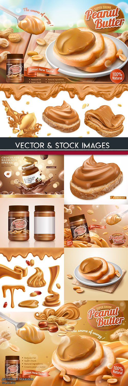 Tasty peanut paste for useful and healthy breakfast