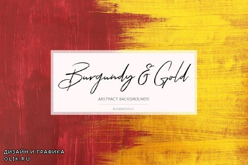 Burgundy & Gold Abstract Backgrounds - 3923349