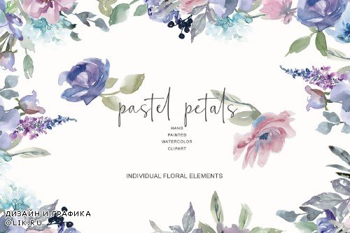 Watercolor Pastel Florals - 3417822