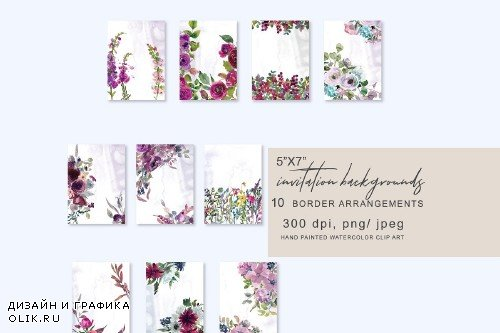 5x7 Invitation Background Set - 3261372