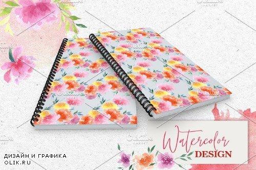 Watercolor pink peonies PNG - 3922959