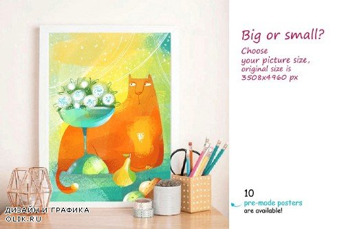 Still Life with Cat - poster creator - 3917565