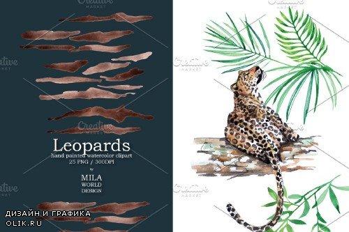 Leopard Watercolor Clip Art - 3344769