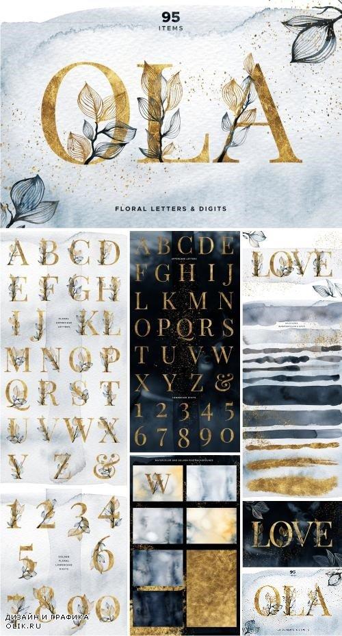 OLA Floral Alphabet Letters & Digits - 3544687