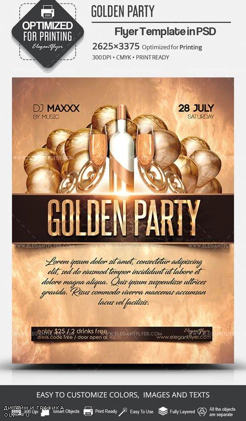 Golden Party V7 2019 PSD Flyer Template
