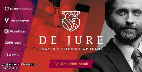 ThemeForest - De Jure v1.0.7 - Attorney and Lawyer WP Theme - 22453074