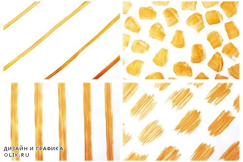Gold & White Abstract Backgrounds - 3928733